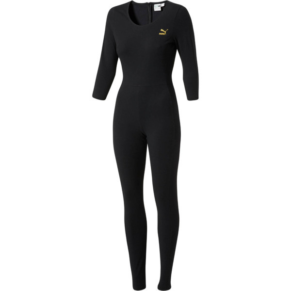 T7 Jumpsuit, Puma Black-gold gliter, large