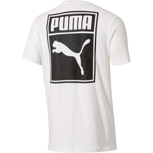 Archive Logo Box T-Shirt, Puma White-Puma Black, large