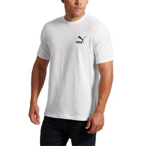 Thumbnail 2 of Archive Logo Box T-Shirt, Puma White-Puma Black, medium