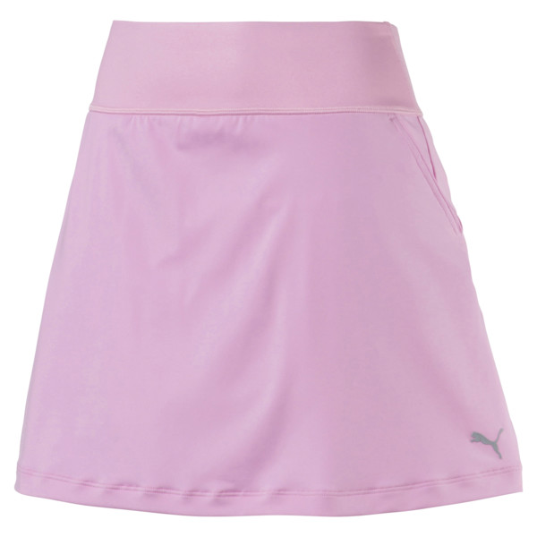 Golf - effen gebreide PWRSHAPE rok voor vrouwen, Bleekroze, large