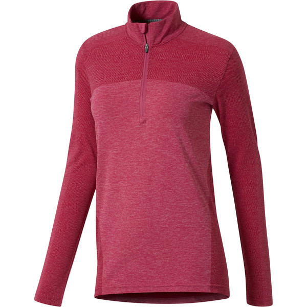 Women's evoKNIT Seamless 1/4 Zip Sweater, Magenta Haze, large