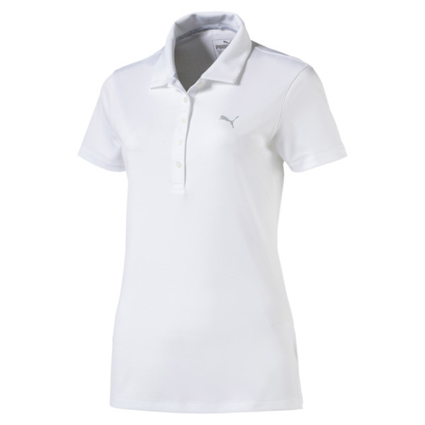 Polo de mujer Pounce Golf, Bright White, grande
