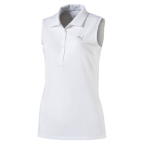 Thumbnail 4 of Golf Damen Pounce Ärmelloses Polo, Bright White, medium
