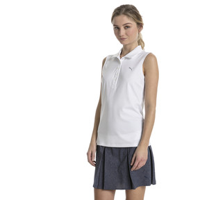 Thumbnail 1 of Golf Women's Pounce Sleeveless Polo, Bright White, medium
