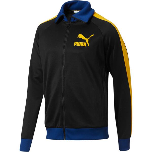 T7 Vintage Men's Track Jacket, Blck-Spectra Ylw-SodalteBlue, large