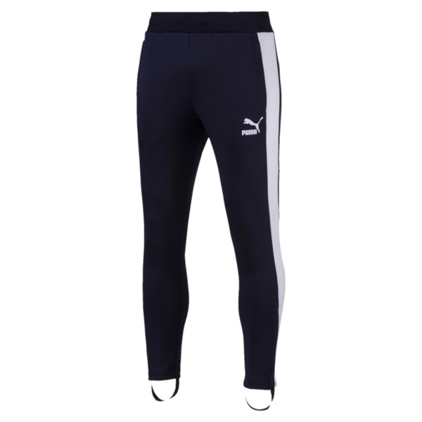 T7 Vintage Men's Track Pants, Peacoat-white, large