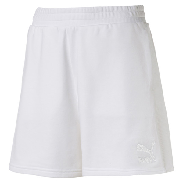 Classics Structured Women's T7 Shorts, Puma White, large