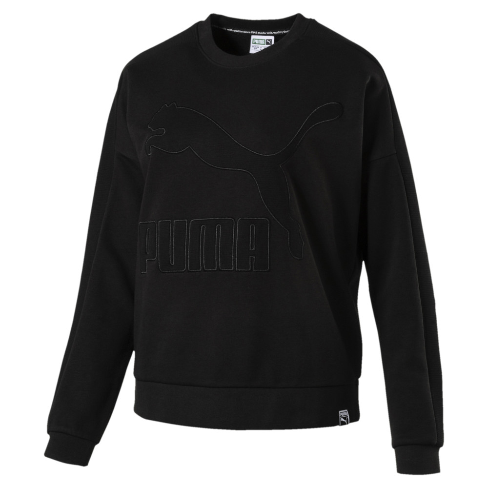 Görüntü Puma CLASSICS Structured T7 Kadın Sweatshirt #1