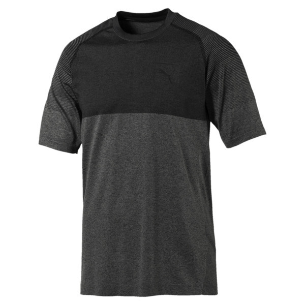Pace evoKNIT Men's Tee, Asphalt-puma black, large
