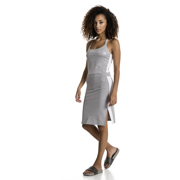 Archive T7 Women's Dress, Light Gray Heather, large