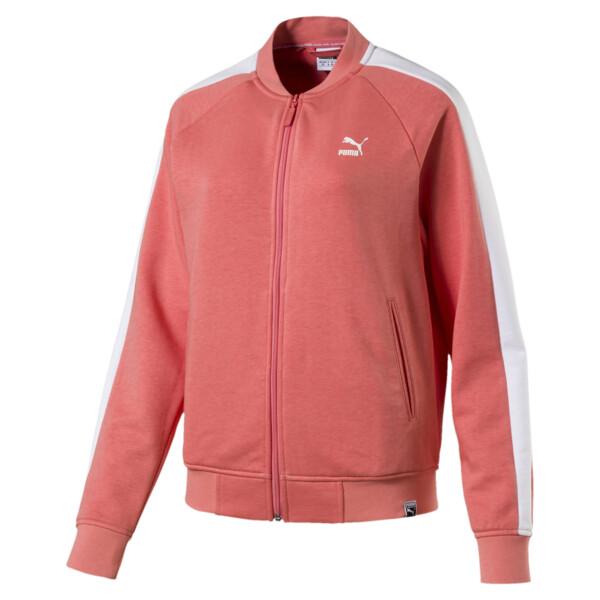 Classics Logo T7 Women's Track Jaket, Shell Pink, large