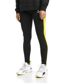 Thumbnail 2 of Legging PUMA Classics Logo T7 , Cotton Black-blazing yellow, medium