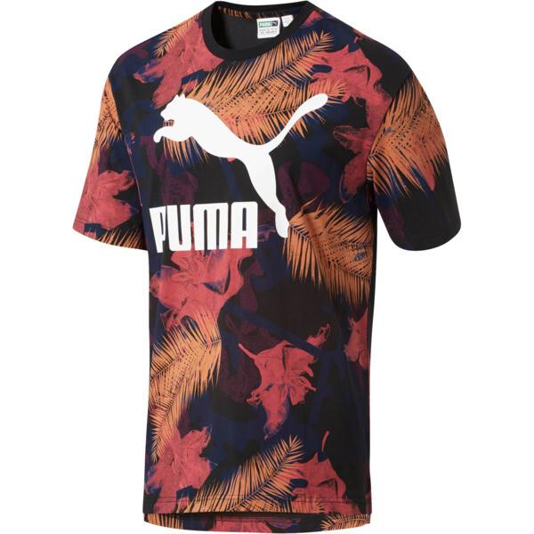 Summer Tropical T-SHirt AOP, Puma Black-AOP, large