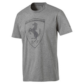 Thumbnail 1 of Ferrari Men's Big Shield Tee, Medium Gray Heather, medium