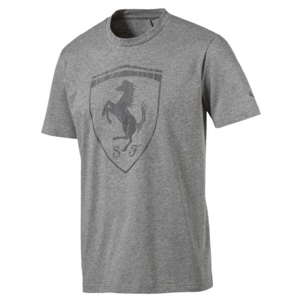 Ferrari Men's Big Shield Tee, Medium Gray Heather, large