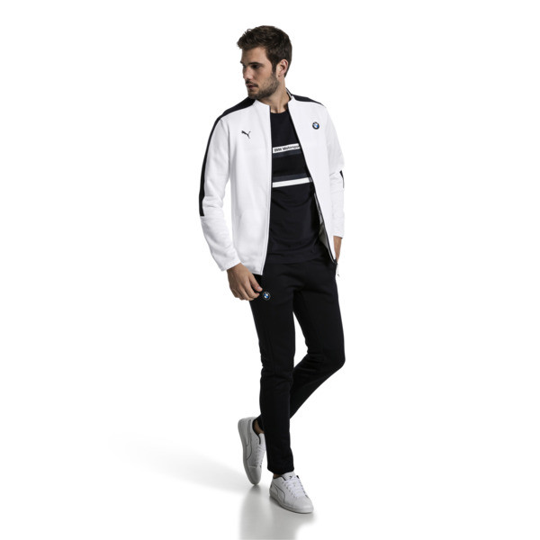 BMW Motorsport T7 Men's Track Jacket, Puma White, large