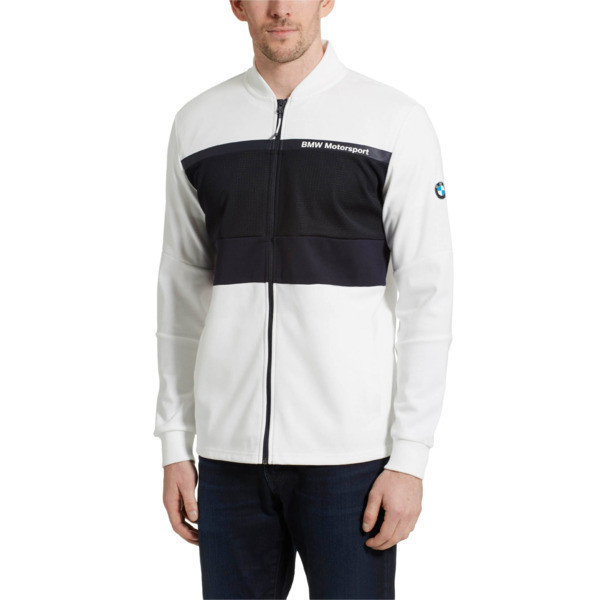 BMW Motorsport Men's Sweat Jacket, Puma White, large
