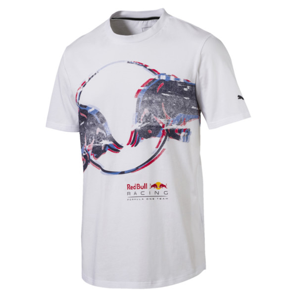 Red Bull Racing Men's Double Bull Tee, Puma White, large