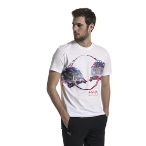 Thumbnail 2 of Red Bull Racing Men's Double Bull Tee, Puma White, medium