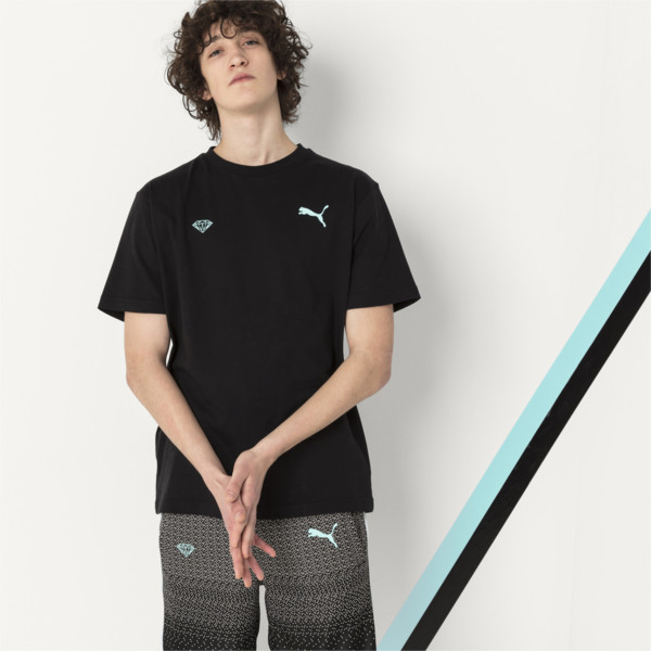 PUMA x DIAMOND Men's Logo T-Shirt, Puma Black, large