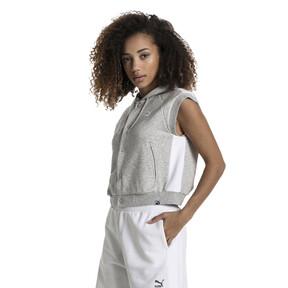 Imagen en miniatura 2 de Sudadera con capucha T7 sin mangas con logo de mujer Classics, Light Gray Heather, mediana