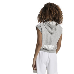 Imagen en miniatura 3 de Sudadera con capucha T7 sin mangas con logo de mujer Classics, Light Gray Heather, mediana