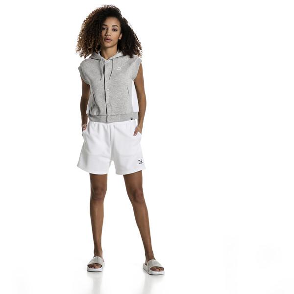 Sudadera con capucha T7 sin mangas con logo de mujer Classics, Light Gray Heather, grande