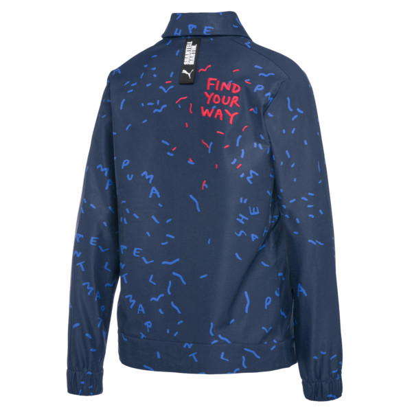 PUMA x SHANTELL MARTIN T7 Women's Track Jacket, Sargasso Sea--AOP, large