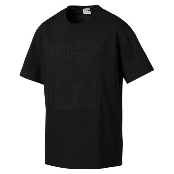 c001831f8 Męska koszulka z krótkim rękawem Archive z wytłoczonym nadrukiem, Puma  Black, obszerny