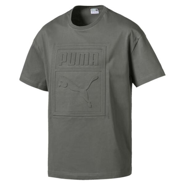 896cb8f3d1 Archive Embossed Print Men's Short Sleeve T-Shirt, Castor Gray, large