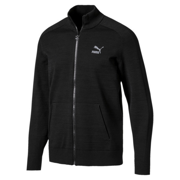 Men's T7 evoKnit Jacket, Puma Black, large