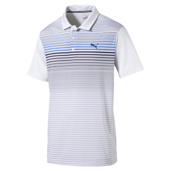 Highlight Stripe Polo Shirt, 01, large