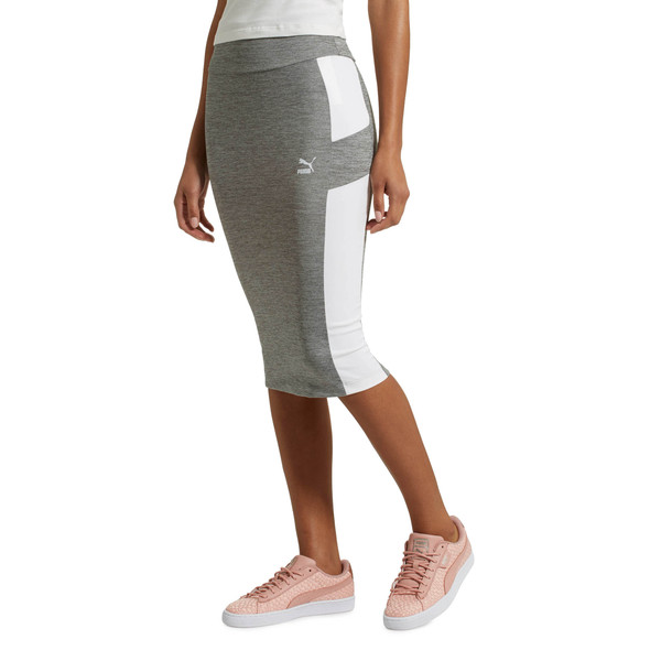 Women's Pencil Skirt, Medium Gray Heather, large