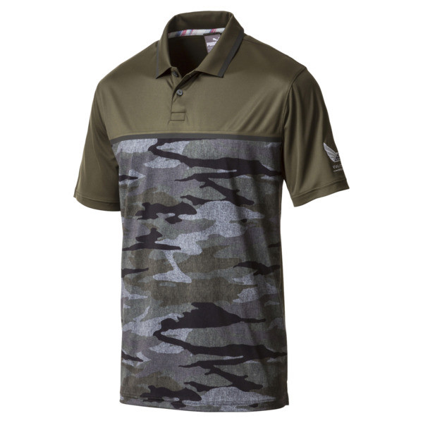 Volition Air Strike Polo, Forest Night, large