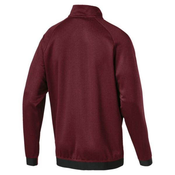 Men's Envoy 1/4 Zip Sweater, Pomegranate, large