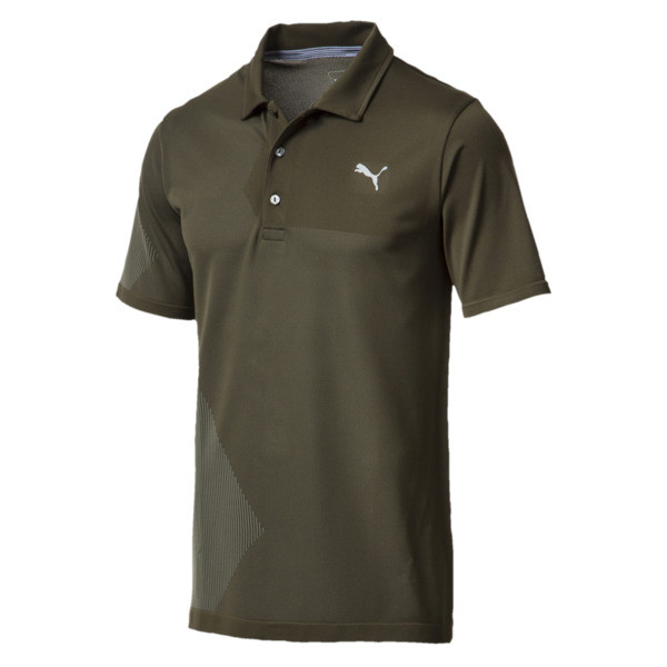 Men's evoKNIT Dassler Polo, Forest Night, large