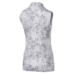 Anteprima 4 di Golf Women's Floral Sleeveless Polo, QUIET SHADE, medio