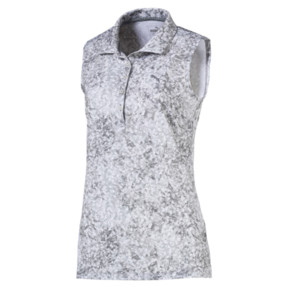 Anteprima 1 di Golf Women's Floral Sleeveless Polo, QUIET SHADE, medio