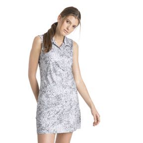 Anteprima 2 di Golf Women's Floral Sleeveless Polo, QUIET SHADE, medio