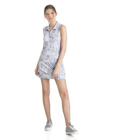 Anteprima 5 di Golf Women's Floral Sleeveless Polo, QUIET SHADE, medio