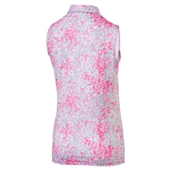 Golf Women's Floral Sleeveless Polo, Carmine Rose, large