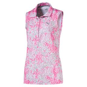 Thumbnail 1 of Golf Women's Floral Sleeveless Polo, Carmine Rose, medium