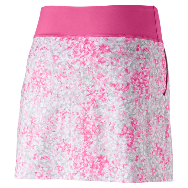 Golf Women's PWRSHAPE Floral Knit Skirt, Carmine Rose, large