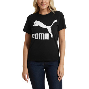 Thumbnail 2 of Classics Logo Women's T-Shirt, Cotton Black, medium