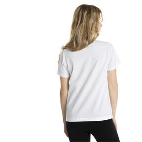 Thumbnail 3 of Classics Logo Women's T-Shirt, Puma White--Gold, medium