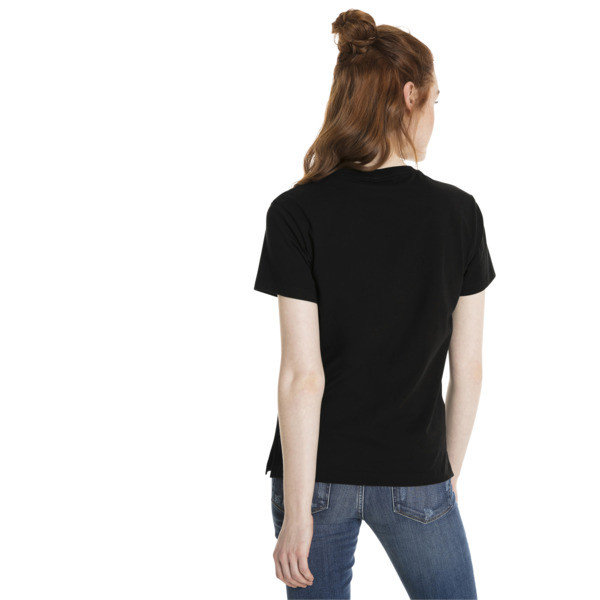 Classics Logo Women's T-Shirt, Cotton Black--bronze, large