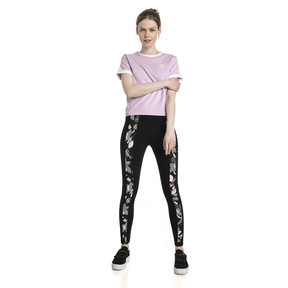 Thumbnail 5 of Classics T7 All-Over Print Women's Leggings, Cotton Black-flower uprising, medium