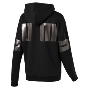 Miniatura 4 de Chaqueta con capucha Retro para mujer, Cotton Black, mediano