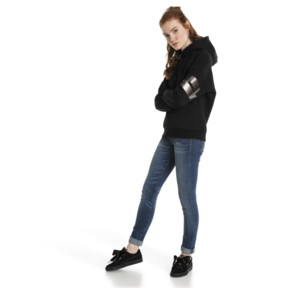 Miniatura 5 de Chaqueta con capucha Retro para mujer, Cotton Black, mediano