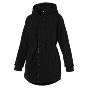 Thumbnail 1 of Downtown Winterised Full Zip Women's Sherpa Hoodie, Puma Black, medium